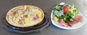 Munstiflette avec salade